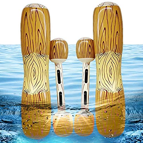 NULINULI Batalla Tronco Balsas Inflable Piscina Flotador Fila Juguetes Juegos al Aire Libre Piscina Flotador Agua Juguetes para Verano Piscina Fiesta Deportes acuáticos 4pcs