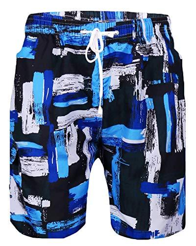 Sykooria Herren Badehose Sommer Schnelltrocknend Kordelzug Surfenen Strand Männer-Badehose mit Taschen