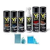 Kit Pulizia moto Xforte Prodotti Per Passioni, senz'acqua e senza risciacquo, panni F-CLEAN inclusi