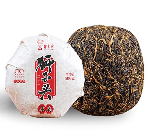 China Dianhong té té negro rojo té cabeza de león de oro 500g (1.1LB) oro oro melón tuo Cha Pu-erh té puerh té té rojo té chino té maduro shu cha comida sana comida verde árboles viejos té cocido