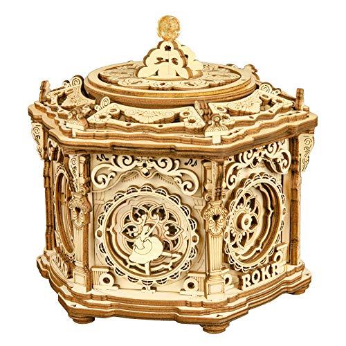 ROKR 3D Wooden Puzzles Model Kits Mechanical Music Box Secret Garden