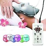 LED-Gesichtsmaske 7 Farbe | Photon Lichttherapie Gesichtspflege für gesunde, glatte Hautverjüngung | Anti-Aging, Straffung, Muskelaufbau, Faltenbehandlung, Aknebehandlung