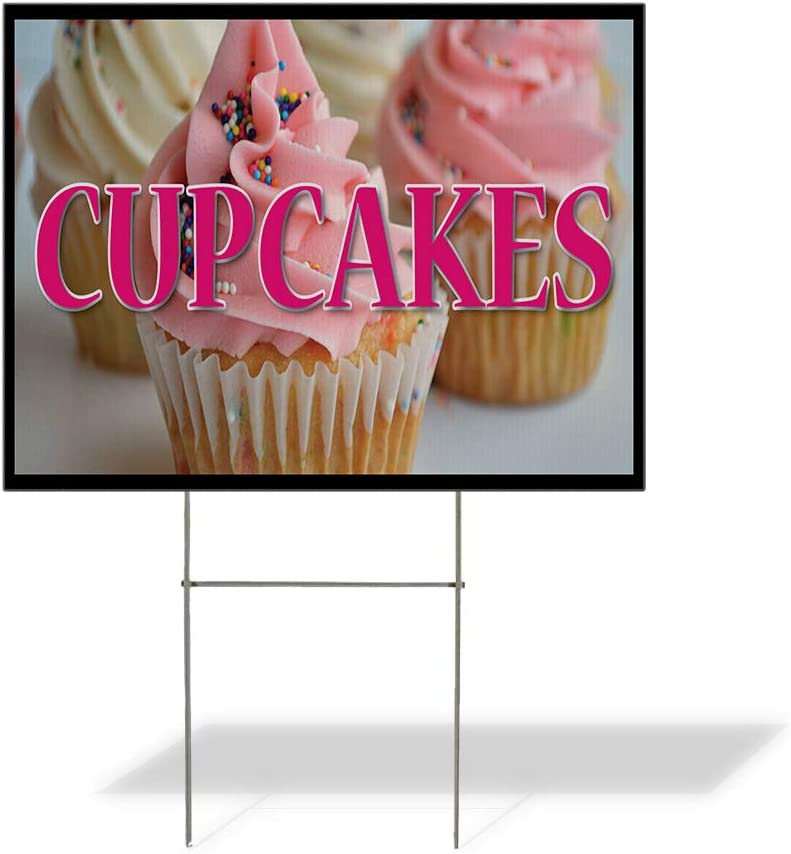Fastasticdeals Weatherproof Yard Opening large release sale Sign Cupcakes Cafe Restaurant Topics on TV B