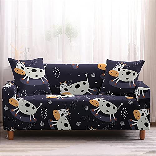Color Cartoon Printing Series Sofa Coverall-Inclusive Full-Cover Antiscivolo Copridivano Resistente all'Usura Asciugamano Grande Elastico Antivegetativo per La Casa