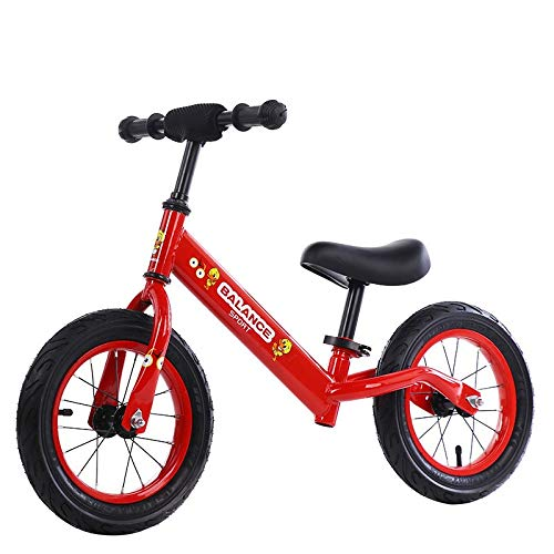 GGXX Balance Bike 12'Balance Bike per Bambini da 2 A 6 Anni Telaio in Acciaio al Carbonio Senza Pedali Balance Bike Bicicletta da Allenamento