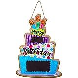 Happy Birthday Burlap Door Decor Birthday Personalized Name Decor Birthday Door Hanger Sign Colorful Happy Birthday Hanger for Birthday Anniversary Indoor Outdoor Decorations