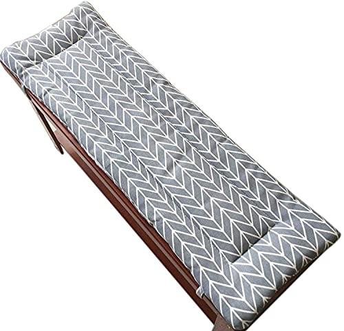XHNXHN Zewnętrzny drewniany ogród patio ławka gruba poduszka siedzisko mata długa podkładka na krzesło, nadaje się do huśtawki ogrodowej ławka ganek krzesło długa podkładka na biurko, 2-lub 3-osobowa - nadaje się do prania