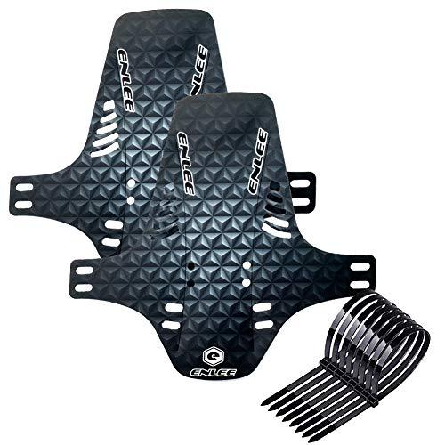 Parafanghi per mountain bike Paraspruzzi, 2 pezzi parafango anteriore e posteriore per bici MTB 26 '27,5' 29 pollici Fat Bike MTB Tie