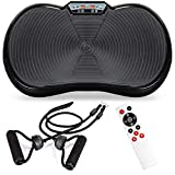 Best Choice Products Vibration Plate Exercise Machine Full Body Fitness Platform for Weight Loss & Toning w/Resistance Bands, 10 Preset Workouts, Remote Control - Black