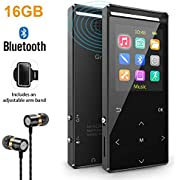 Sports MP3 Player, 8GB MP3 Players with newest Bluetooth,HIFI music, internal speaker.FM radio Recording Shuffle play,Equalizer, Pedometer, armband (gift packing)