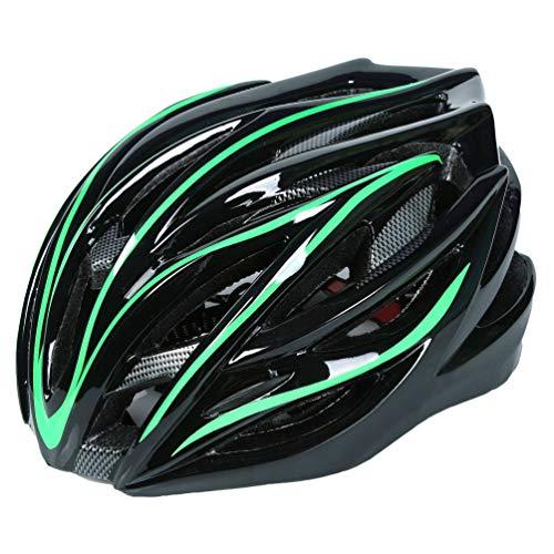Baijiaye BMX & Skaterhelm Unisex Fahrradhelm|Größe 54-62cm|Verstellbarer und EPS-Innenschale 07-Grün