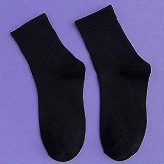 Calcetín de algodón para Mujer Calcetines de Mujer Calcetines de 1 par de algodón elástico en Color Liso para Mujer