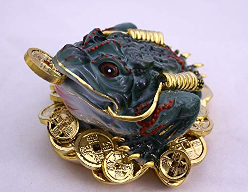 Feng Shui Three Legged Wealth Toad - Money Frog Hand...