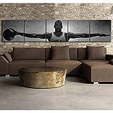 cgsmvp Michael Jordan Wings Basketball Star Canvas Posters Vintage Style Pinturas Decorativas Decoración para el hogar Cuadros de Pared para Sala de estar/30x30cmx5Pcs-Sin Marco