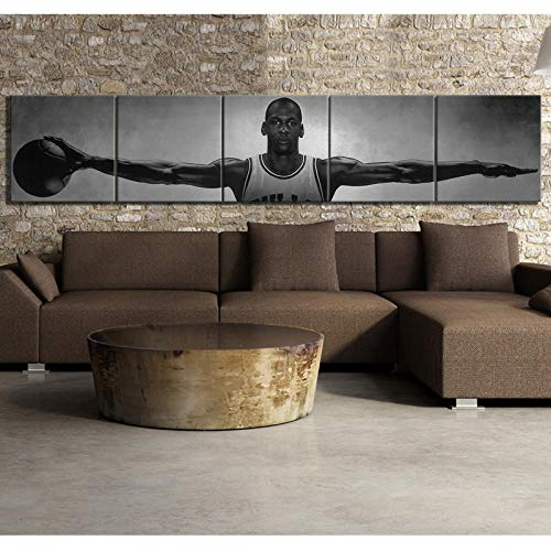 cgsmvp Michael Jordan Wings Basketball Star Leinwand Poster Vintage Style Dekorative Gemälde Home Decor Wandbilder für Wohnzimmer/30x30cmx5Pcs-kein Rahmen