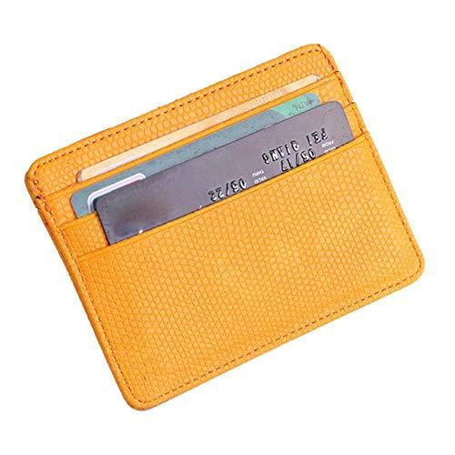 Regen Vrouwen Lichee Patroon Bank Card Pakket Protector Bag Card Houder Portemonnee Lederen Credit Card Houder