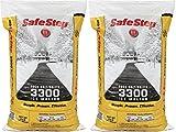 Safe Step Rock Salt/Halite Standard 3300 Ice Melter Non-Corrosive Safe for Concrete Sidewalks, Driveway Pavement- 2 Bags of 25 lb (Rock Salt 2pk)