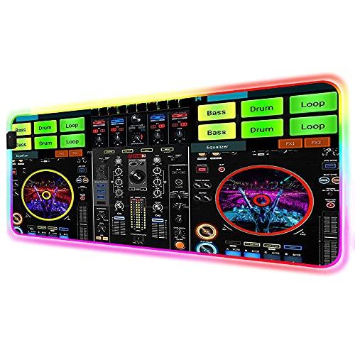 Alfombrillas de ratón Mesa de consola de DJ Alfombrilla de ratón RGB...