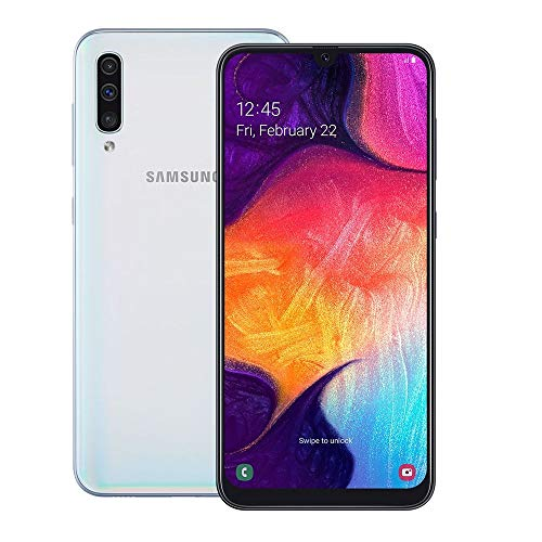 "Smartphone Samsung Galaxy A50 A505GT 128GB Tela 6.4"" Camera Tripla 25MP + 5MP + 8MP Branco -"