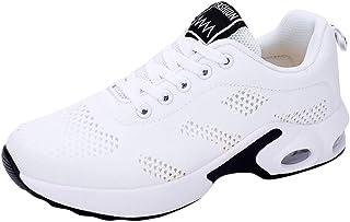 WOZOW Sneakers De Sport pour Femmes, Chaussures Sport, étudiants Femme Basket Mode Chaussure Course Fitness Basses