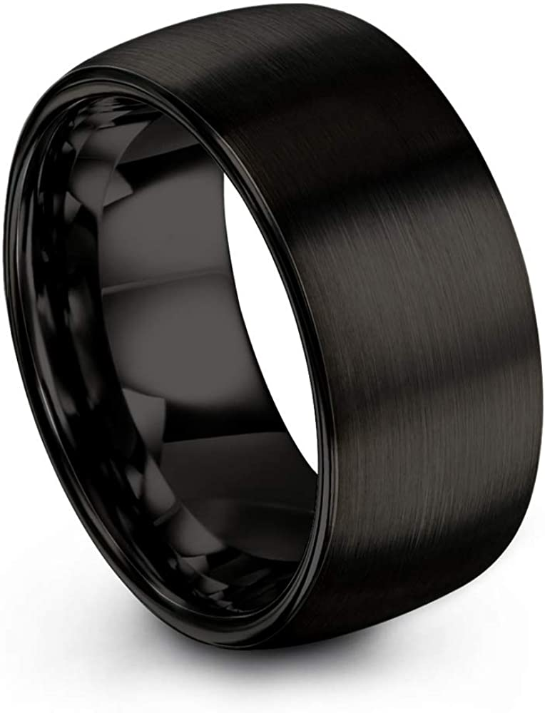 Chroma Classic Color Collection Tungsten Carbide Courier shipping free Ring Band 10mm Wedding