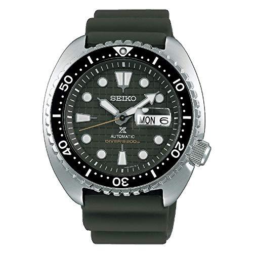 Seiko Prospex - Reloj automático manual sumergible 200 m, de acero SRPE05K1