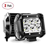 Nilight Led Pods 2PCS 18W 1260LM Spot Led Off Road Lights Super Bright Driving Fog Light Boat Lights Driving Lights Led Work Light SUV Jeep Lamp,2 Years Warranty