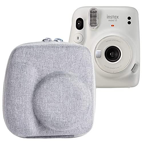 (Nur Tasche,Grau) Reise Hart Taschen Hülle für Fujifilm instax Mini 11 Kamera von Aenllosi