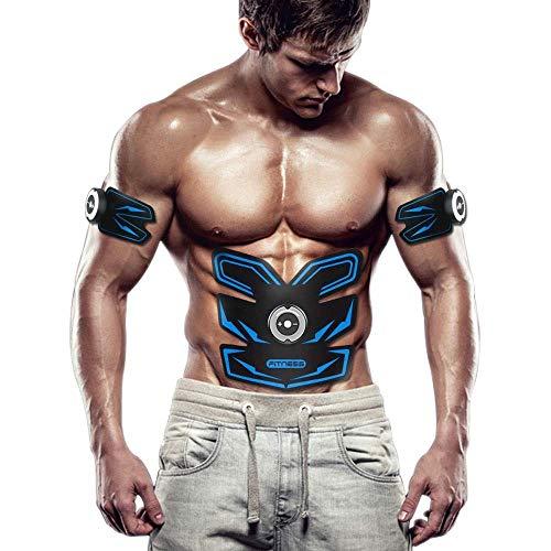 MJ-Brand Elektrostimulatoren Abs Trainer, Bauchmuskelgürtel, EMS Muskelstimulator Fitness Abnehmen Body Sculptor Muskeltrainer Butterfly Ab Belt Gym