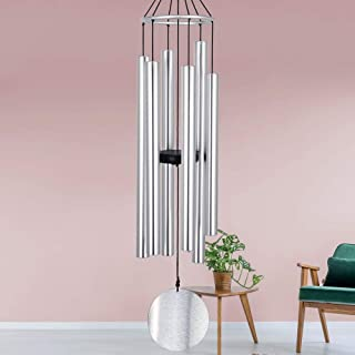 "Howarmer Large Metal Wind Chimes Outdoors Deep Tone,45"" Memorial Wind Chimes with 6 Tuned Tube,Sympathy Gifts for Mom/Hous..."
