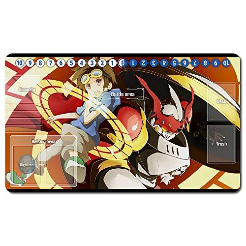 297031de - Digimon Spielematten , Digimon playmat Brettspiel Digimon Mouse pad MTG Playmat Tischmatte Spiele Größe 60X35 cm Mousepad Spielmatte für TCG CCG Yugioh Digimon Magic The Gathering