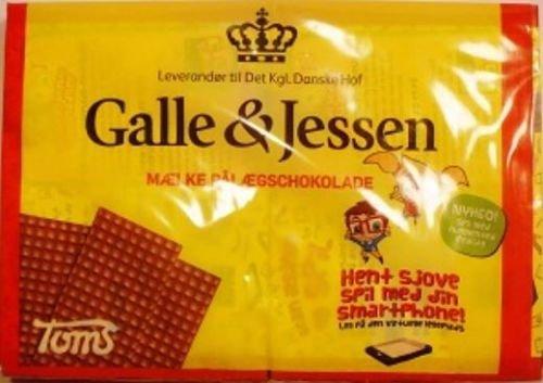 10 x GALLE & JESSEN MÆLKE PÅLÆGSCHOKOLADE VOLLMILCH 216g