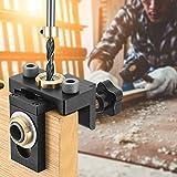 KOSIEJINN Herramienta de Kit de Plantilla de Agujero de Bolsillo, 3 en 1 Guia para Espigas de Madera con Clip de Posicionamiento, Kits de carpintería Guía para Taladrar Móvil