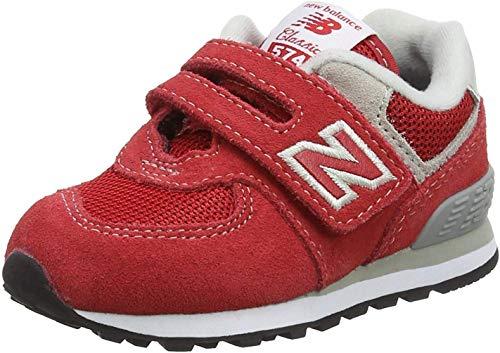 New Balance 574, Entrenadores para Bebés, Rojo Red/Grey, 25 EU