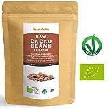 Granos de Cacao Crudo Ecológico 1Kg. 100% Bio, Natural y Puro. Cultivado en Perú a partir de la planta Theobroma cacao. Superalimento rico en antioxidantes, minerales y vitaminas. NATURALEBIO