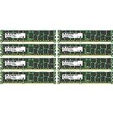 64GB KIT (8 x 8GB) for Dell Precision Workstation Series R5500 Rack T5600 T7500. DIMM DDR3 ECC Registered PC3-10600R 1333MHz Dual Rank Server Ram Memory. Genuine A-Tech Brand.
