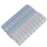 Pixnor 20 Piezas Limas de Uñas Tampones de Impresión Barra de Pulido de Uñas Profesional Moldeador de Uñas Herramienta de Pedicura de Manicura (Patrón Aleatorio)