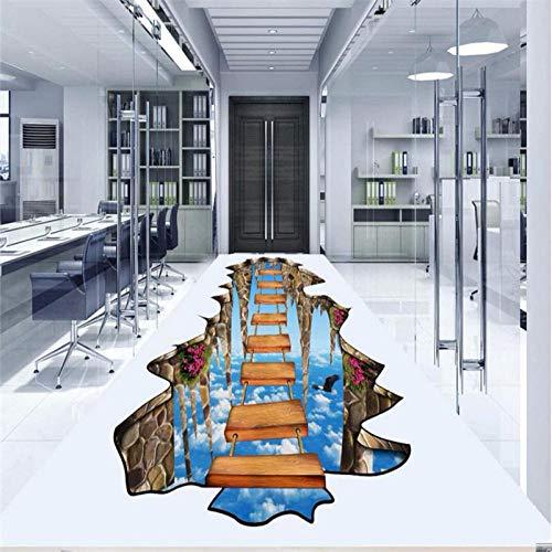 3D muur papier op brug 3D vloer schilderen PVC slijtage zelfklevende behang voor muren 3 D vloeren 450cm(L) x300cm(W)