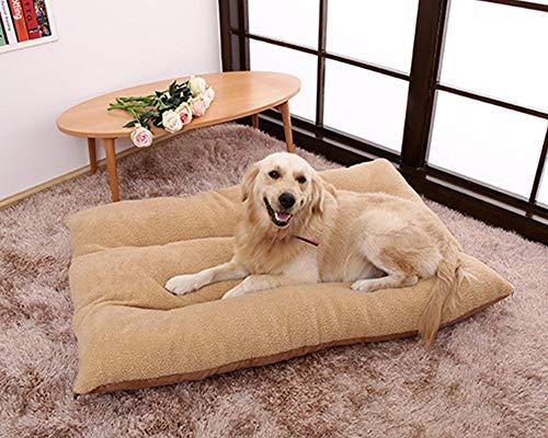 HANHAN Almohada para cama de perro de felpa mullida extra grande XL colchón suave cómodo plano xxl calmante almohada ortopédica cojín mediano acogedor cojín lavable y desmontable