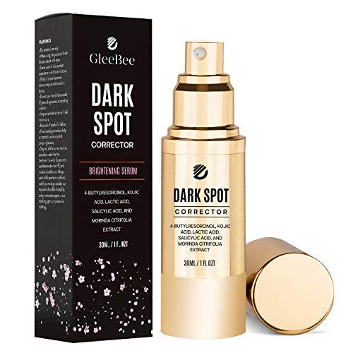 GleeBee Dark Spot corrector For Face Body Effective Ingredients with 4-Butylresorcinol (better than 2% Hydroquinone), Kojic Acid, Lactic Acid and Salicylic Acid