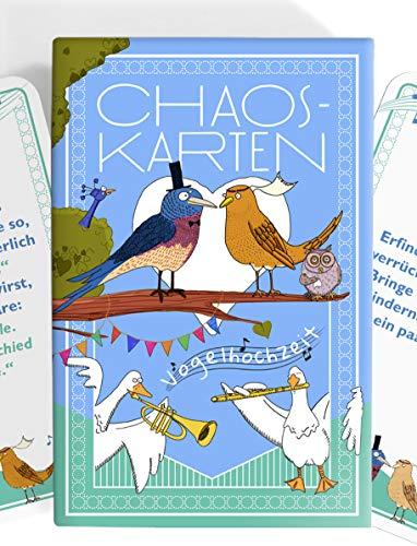Chaoskarten Hochzeitsspiel für Kinder – Beschäftigung Kindertisch auf Hochzeit – 30 Aufgaben