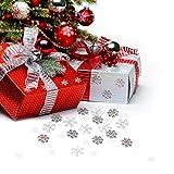 Howaf 300 Stück Schneeflocken Konfetti, Weihnachten Winter deko Schneeflocke Filz Tabelle Konfetti Tischdeko, Weihnachtsschmuck , Hochzeit, Geburtstag, Jahr, Weihnachts Dekorationen - 3