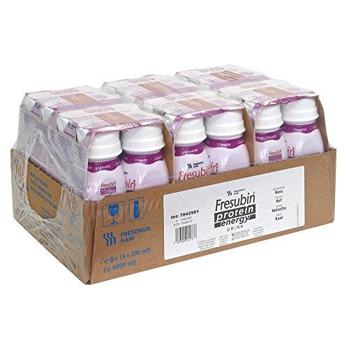 Fresubin protein energy DRINK - Trinknahrung - Nuss - eiweißreich & ballaststofffrei- hochkalorisch - 1,5 kcal/ml - 200 ml - 24 EasyDrinks