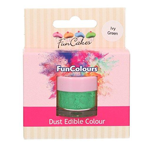 FunCakes Edible FunColours Dust - Ivy Green - Polvo Colorante para Alimentos, para Decoración de Pasteles, Certificado Halal