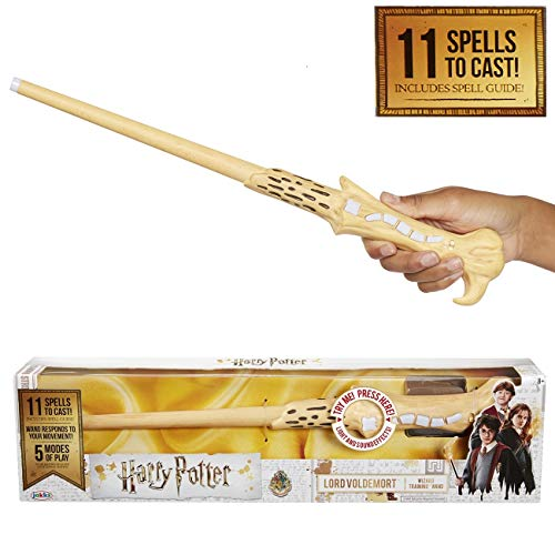 Harry Potter, Lord Voldemort's Wizard Training Wand - 11 SPELLS To Cast! Official Toy Wand with Lights & Sounds – Wand & Albus Dumbledore Wand Also Available