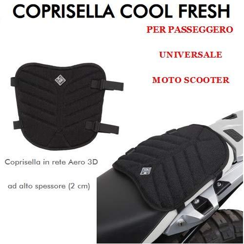 Compatibel met Aprilia RSV 1000 HAG universele motorfiets scooter Aero 3D Net Tucano Urbano 326-N4 Cool Fresh zwart stoelbekleding dikte 2 cm LUN31XLAR31 cm