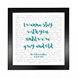James Arthur, Say You Won't Let Go, Song Lyrics Print Framed & Personalised - Anniversary Valentine's Wedding Gift Perfect for him, her, Couple - Fully Framed Black Box 9.5 inch Frame