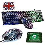 MeiYing T6 + Light&Magic est un clavier de jeu filaire multimédia et arc-en-ciel à LED rétroéclairé Le T6 + War est un clavier attrayant spécialement conçu pour les utilisateurs à la recherche de tendances. Design tendance et contemporain noir brilla...