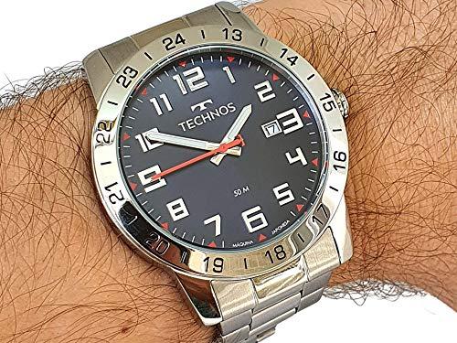 Relógio Technos Masculino Ref: 2115mwq/1a Militar Prateado