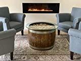 Wine Barrel Coffee Table with Cork and Glass Top, Choice of Finish